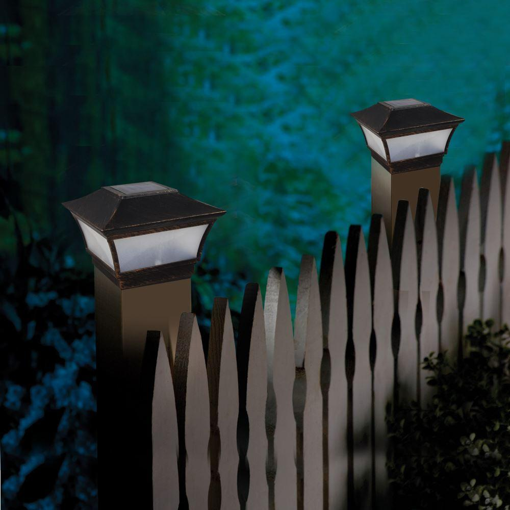 Outside Driveway Wall Lights : Retro Style Solar Post Cap Light Pillar Wall Lamp Deck Fence Mounted For Outdoor Garden Driveway ...