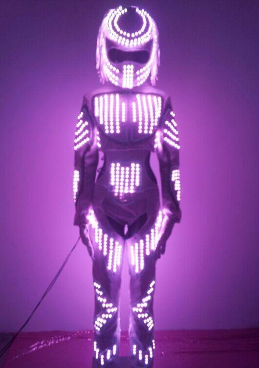 2017 Change Led Robot Luminous Glowing Dance Costumes