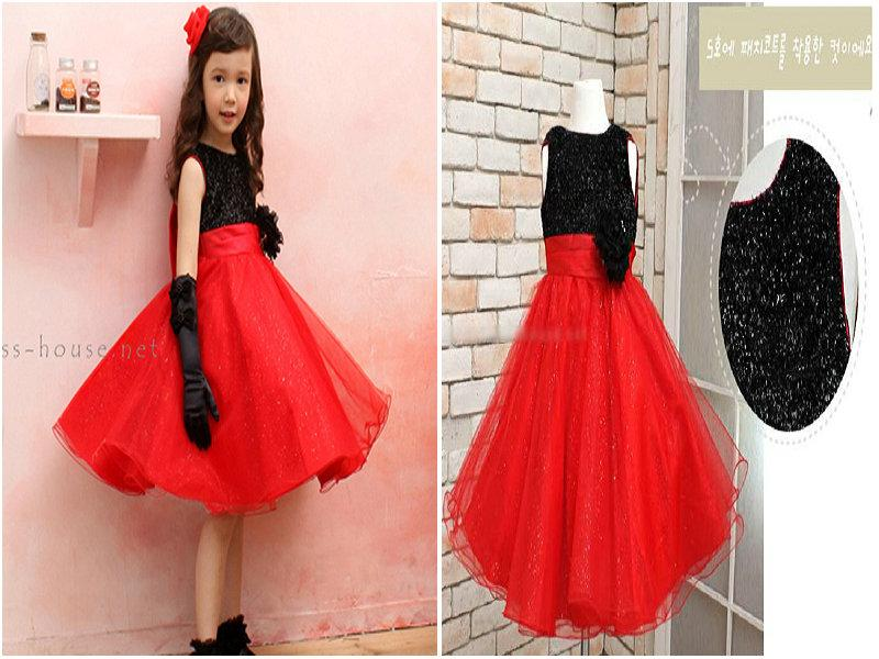 2017 Babies Clothes Girls Sequin Formal Dress With Big Bowknot ...