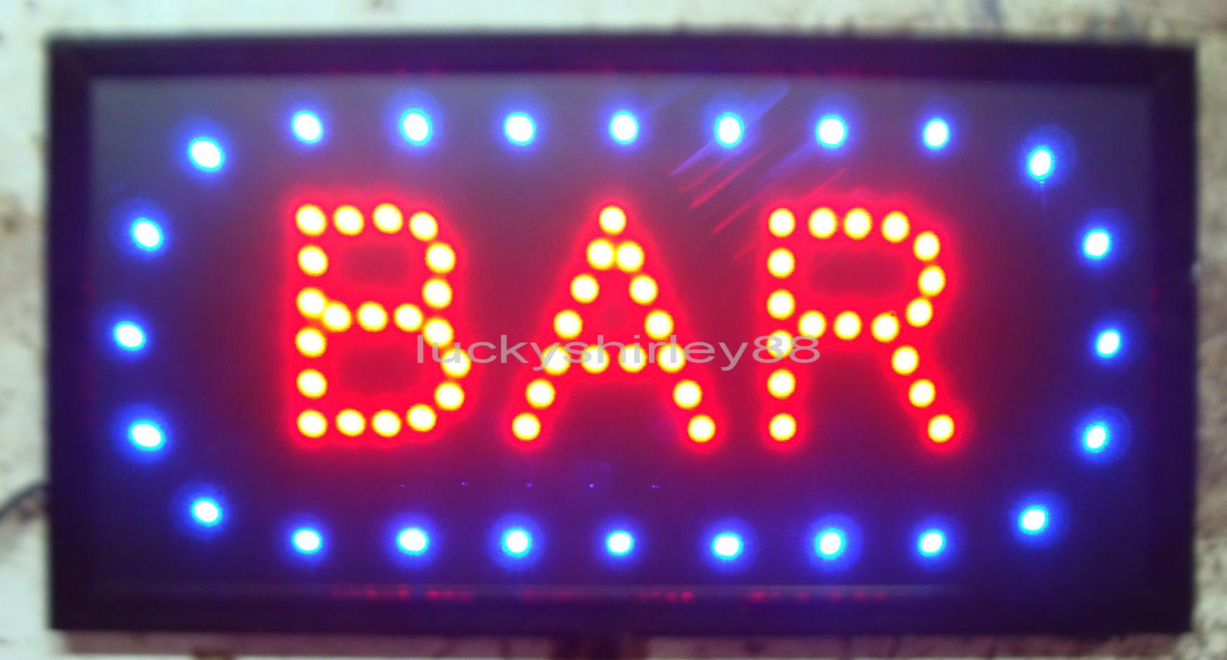2017 New Arriving Customized Led Bar Signs Neon Bar Signs