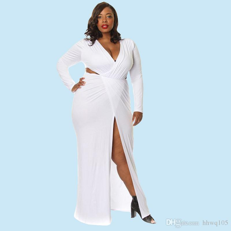 Plus size fitted maxi dresses