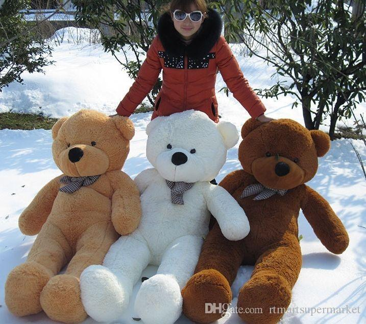 discount teddy bears 160cm life size doll plush large teddy bear for sale giant big soft toys. Black Bedroom Furniture Sets. Home Design Ideas