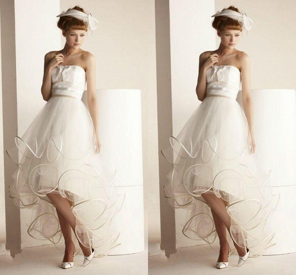 High low beach wedding dresses 2015 unique design for High low wedding dresses for sale