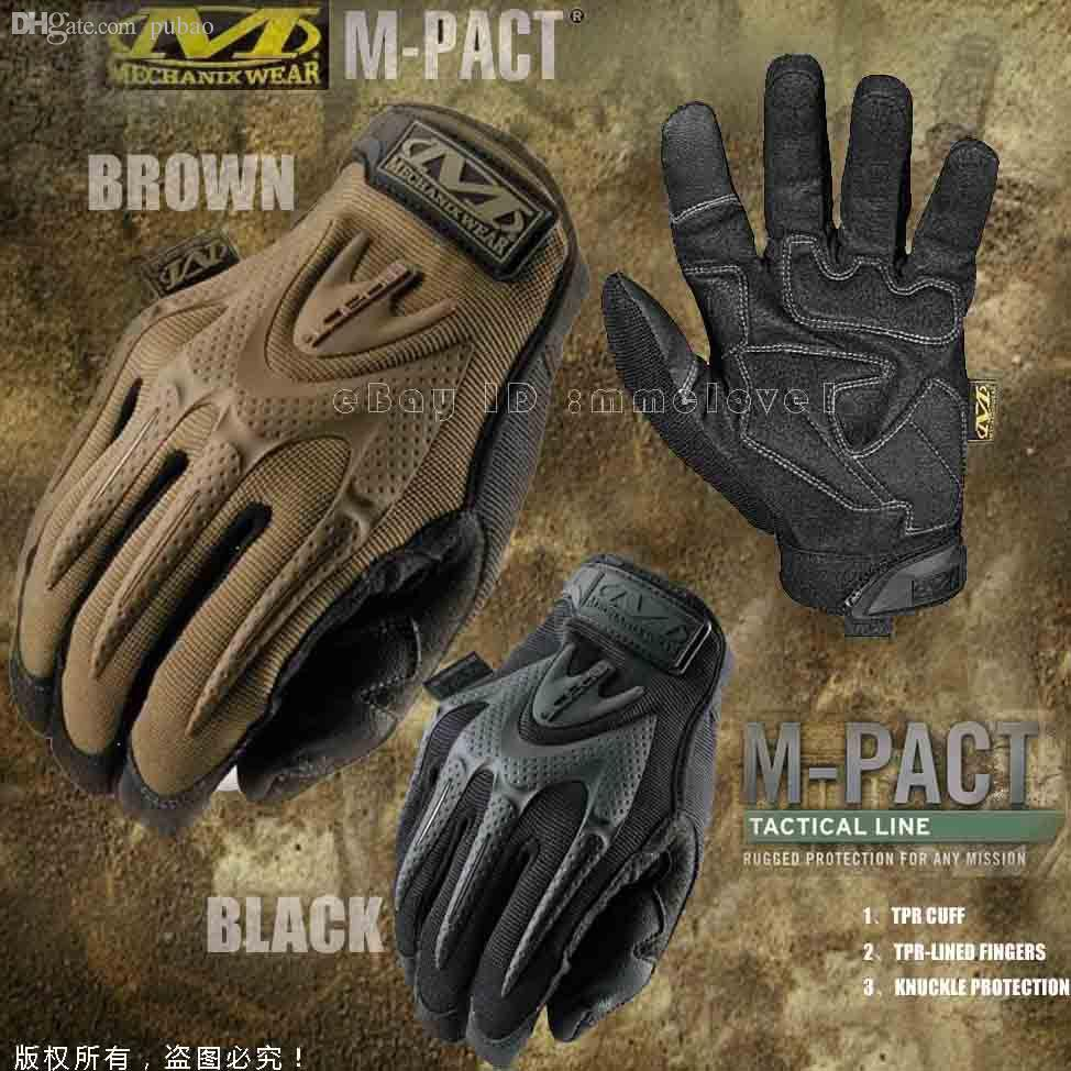 Womens leather motorcycle riding gloves - Wholesale Mechanix Wear M Pact Full Finger Gloves Safety Tactical Gloves Womens Leather Motorcycle Gloves Womens Leather Riding Gloves From Jimlly
