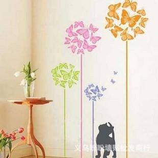 Wall Stickers Home Decoration Wall Stickers Wall Stickers Cartoon Bedroom Living Room Sofa Background Cute Cat Butterfly Flower Tc2047 Home Wall Decals