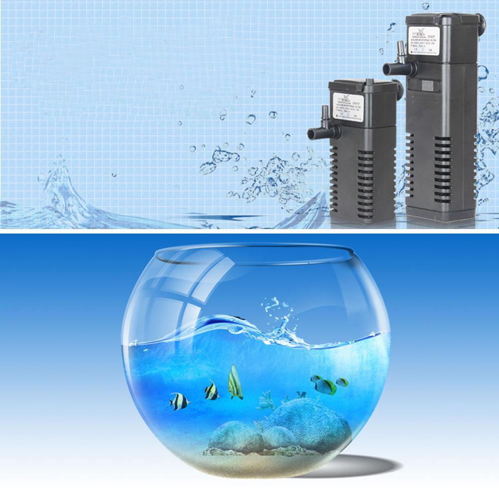 Fish aquarium pumps - 3 In 1 Portable Aquarium Internal Filter Multi Functional Water Pump For Fish Tank 220 240v 5w 2015 New Arrival H14026 Aquarium Internal Filter Aquarium