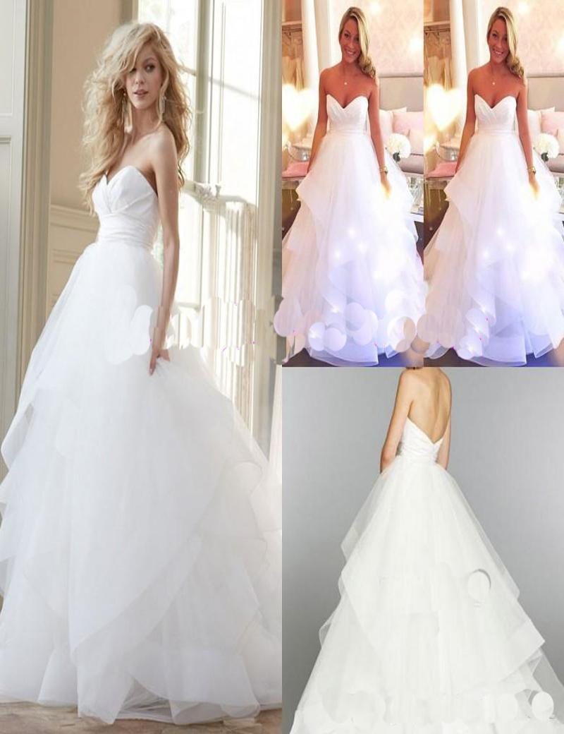 Cheap Hayley Paige Wedding Dresses 2016 Plus Size Sexy Corset Backless Organza Modest Tiered