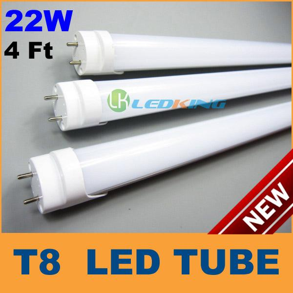 T8 tube de LED 22W 4ft 1.2m lampe de tube fluorescent de LED SMD2835 AC85-265V C