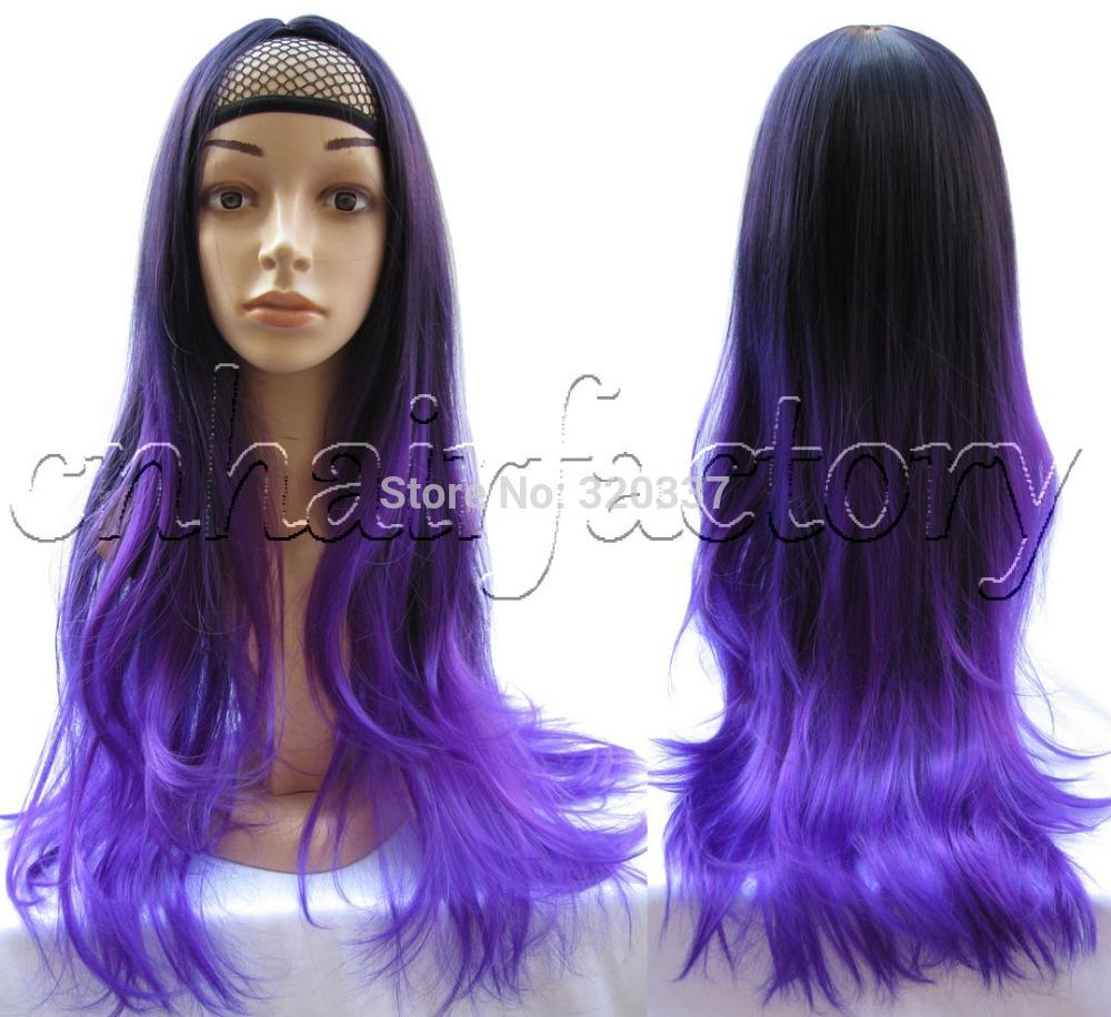 Ombre Human Hair Half Wigs 105