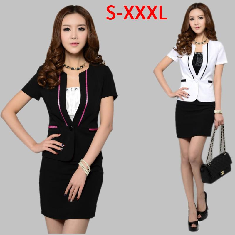 Online Cheap Women Business Suit Formal Office Ladies Clothes ...