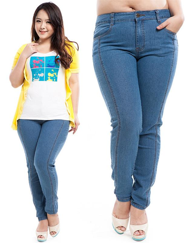 Discount Plus Size Jeans For Women Fat Big Size Girl Russia
