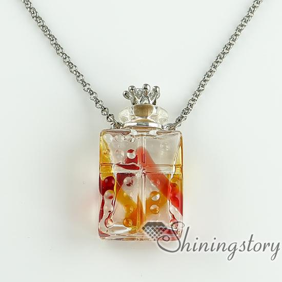 necklace vials for ashes essential oil diffuser necklaces small wish bottle pendant necklace wholesale supplier top quality lampwork glass j necklace vials