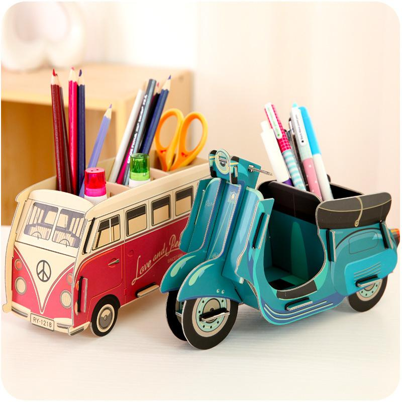 Sew A Toy Car Holder : New wooden diy pencil box desk collection