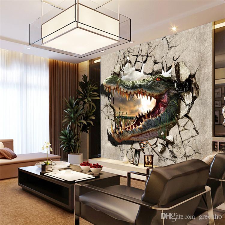 3d Photo Wallpaper Violence Crocodile Large Wall Mural Non