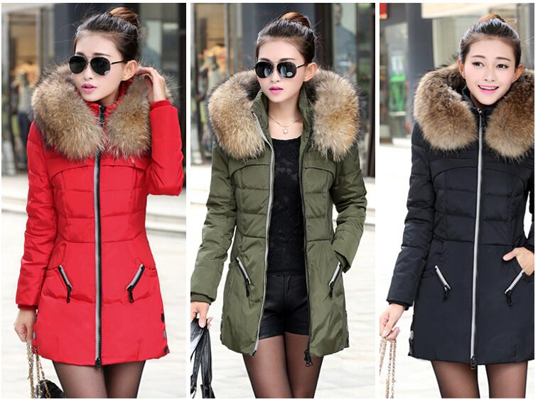 New 2017 Winter Women Jacket Coat Thicken Slim Female Fur Collar ...