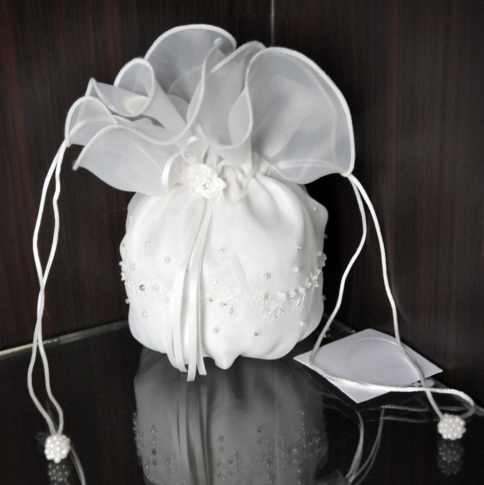 2015 Bride Handbag With Drawstring Gift Wedding Favor Holders ...