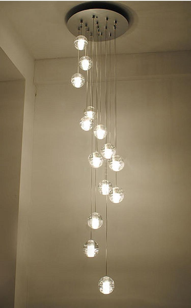 free shipping led crystal pendant lights lighting g4 14 lights stair lights crystal ball loft lights buy pendant lighting