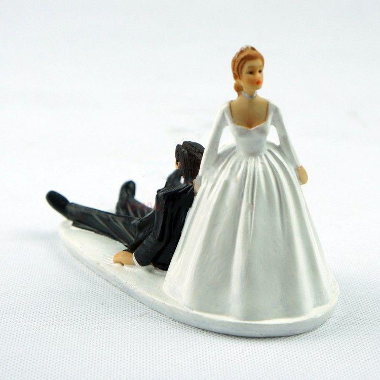 2016 sale western wedding cake supplies groom cake toppers resin figurine