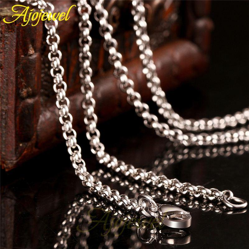 FG longueur 45/50/55 / ​​60cm Curb Chain Link Mens Jewelry Stainless Steel Neckl