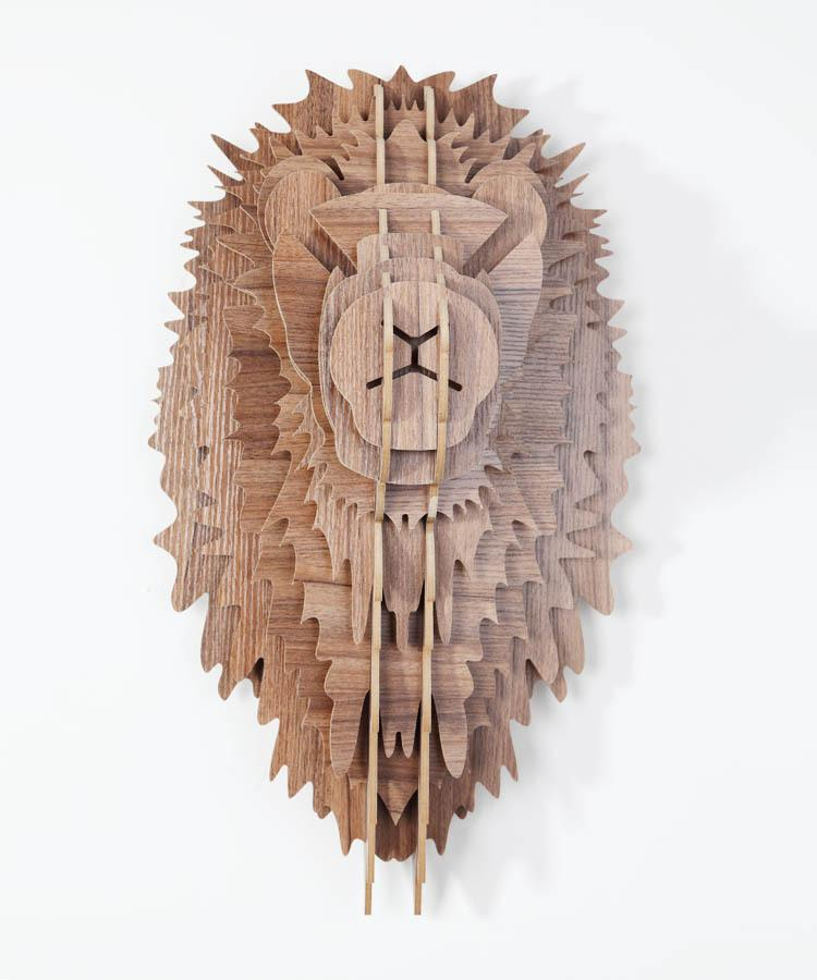 2017 European Wooden Lion Head Wall Decor Carved 3d Diy Wood Animal Head Crafts Novelty Items Pendant Home Decor Real Wood Decoration From Latex2010