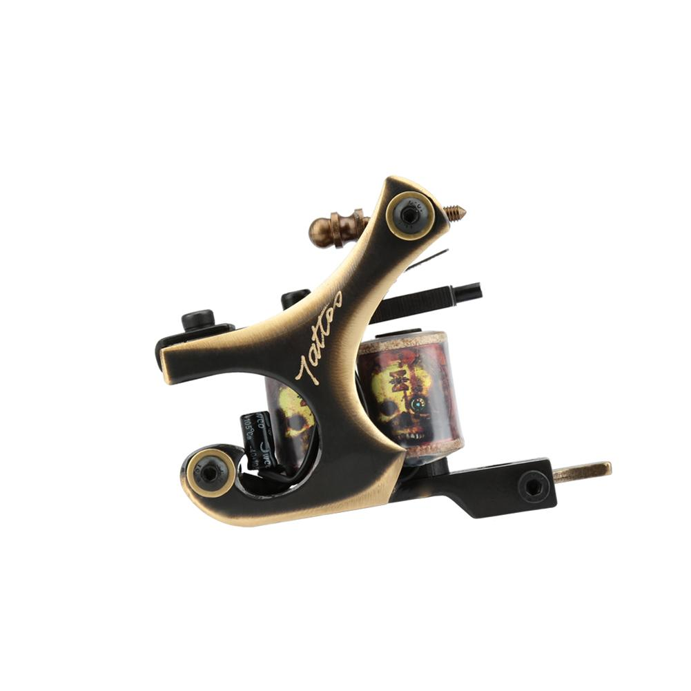 Wrap coils carved tattoo machine professional