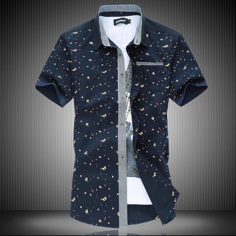 Male Korean Shirt 2015 Summer Men's Shirt with Short Sleeves ...