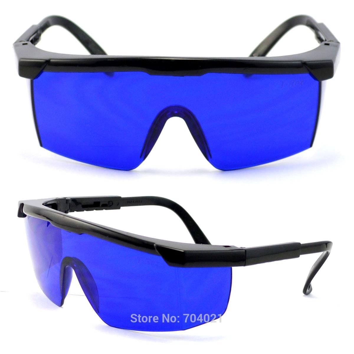2017 Dhl Shipping Blue Safety Glasses 600nm 750nm Red