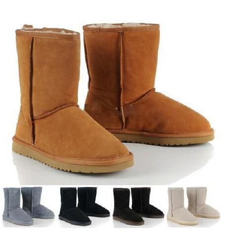 Ausland Australia Women;s Classic Leather Short Snow Boots ...