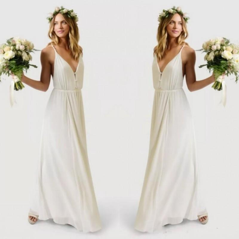 Simple boho wedding dresses 2016 summer beach spaghetti for Dhgate wedding dresses 2016