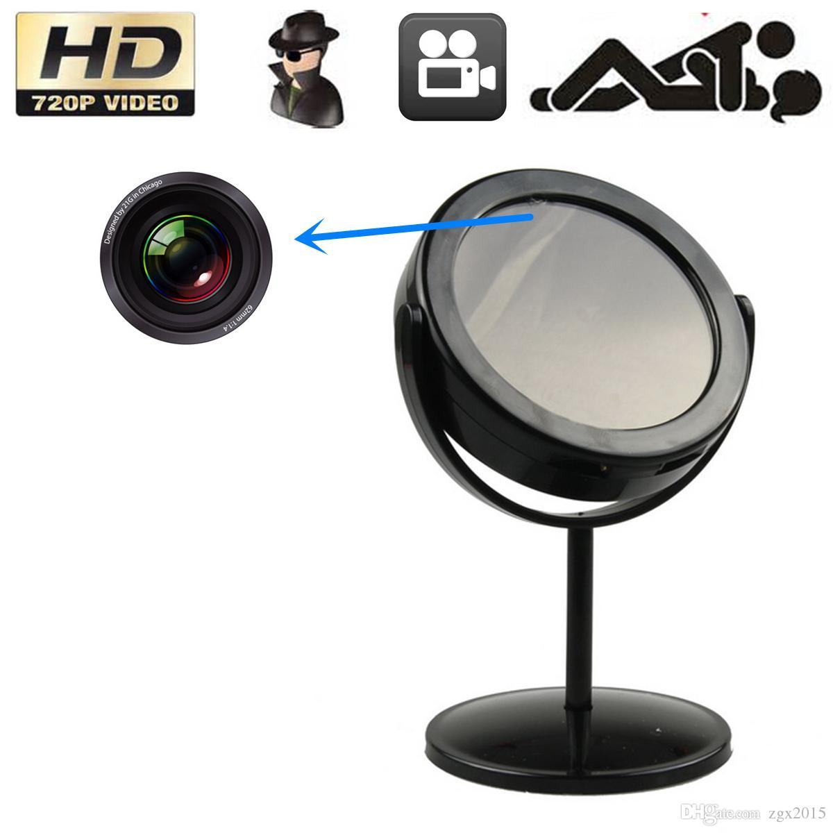 Home mirror spy hidden camera video recorder motion for Mirror video