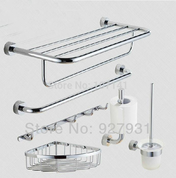 modern chrome finished bathroom accessories set accessory bathroom set online with 4750piece on store dhgatecom