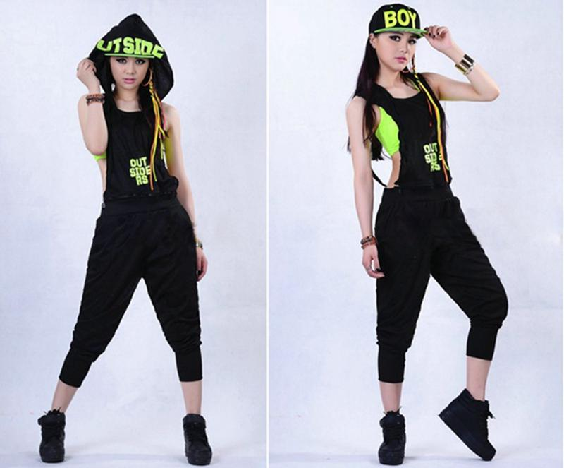 New Mode Femmes Hip Hop Dance Costume Performance Wear Jazz Sports Jumpsuits