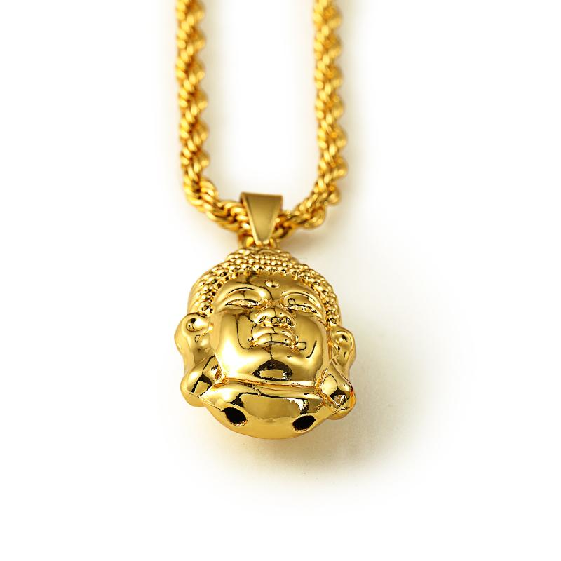 Buddhist culture 18k gold chain men women goldplated for Zen culture jewelry reviews