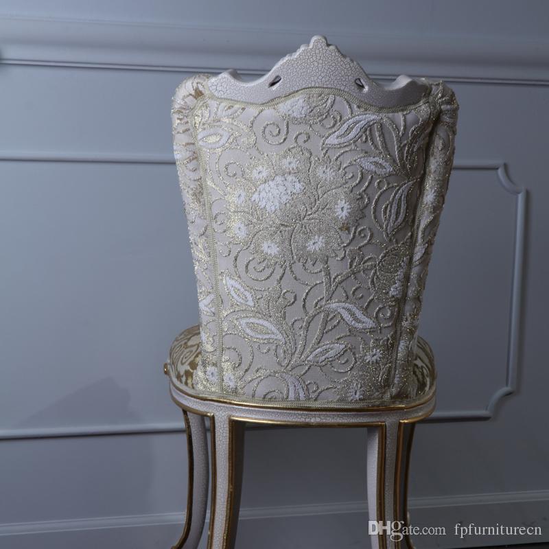Antigua tallada a mano silla de madera   salón clásico furnituree ...