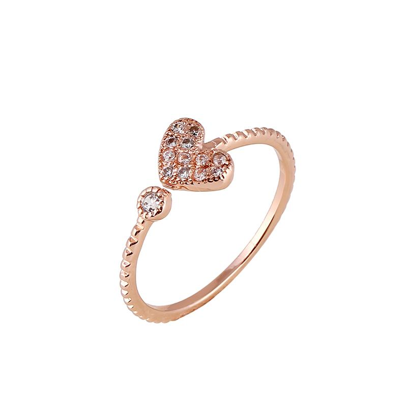 Heart Shape Affordable Wedding Rings Fashion Simple Wedding Rings for Her 201