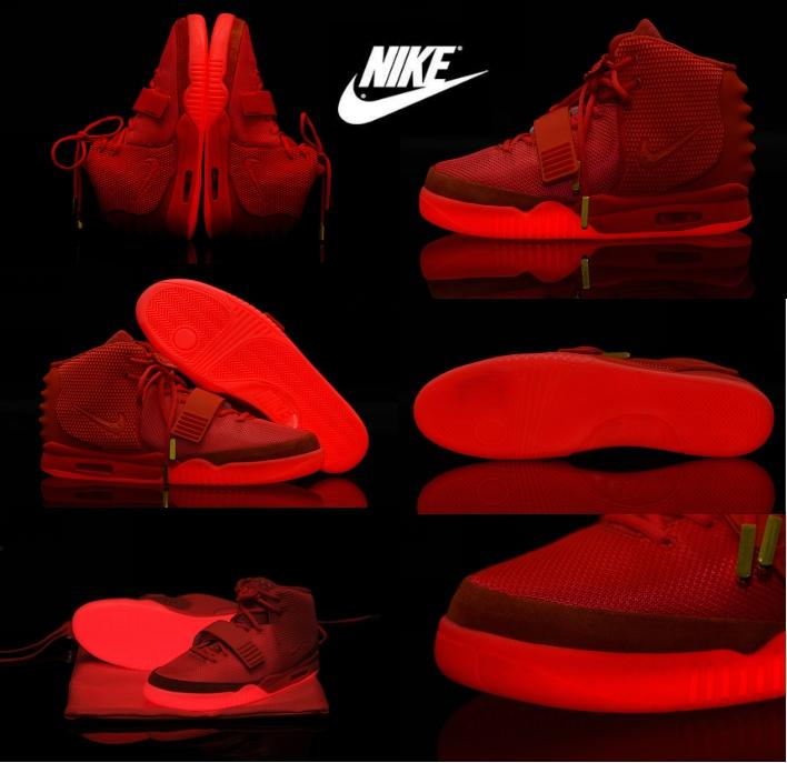 Nike Mens and Women air yeezy 2 Red October Basketball Shoes West Trendy Unisex\\u0026