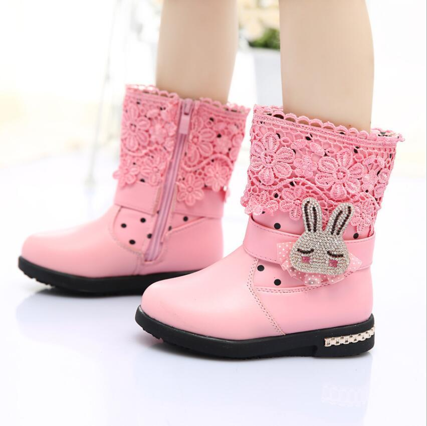 2015 New Girls Boots Lace Boots For Little Girls Children Boots ...