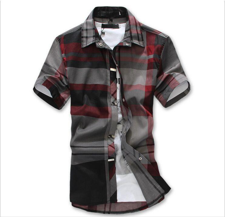 Best Quality Summer New Fashion Plaid Shirts Men Shirt Short ...