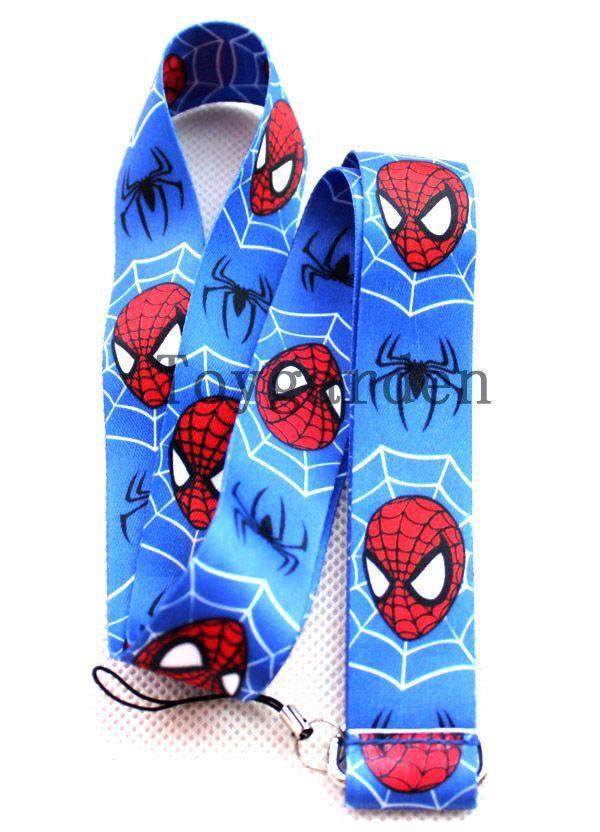Cartoon polyester spiderman porte-clés d'impression longes / de transfert de cha