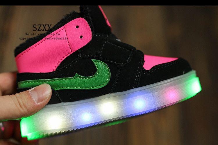 MJJC 2015 Kids Led Shoes Korean Fashion Boys Girls Led
