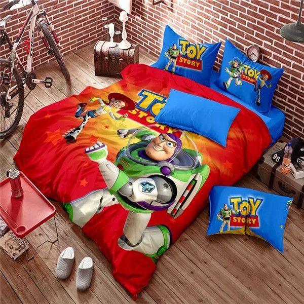 Wholesale New Brand Buzz Lightyear Bedding Set Kids Cartoon Woody Duvet  Cover Bed Sheet Pillowcase Toy