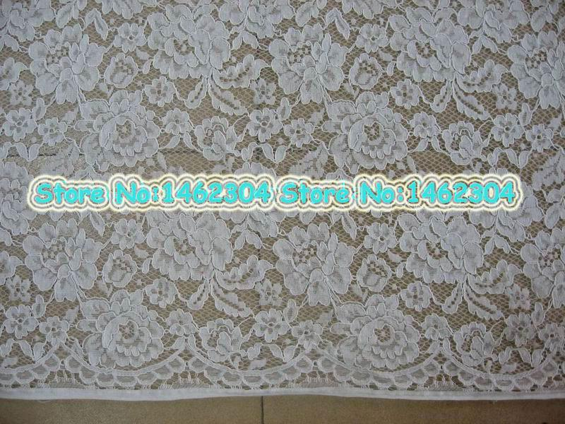 3d flower french lace fabric off white corded lace fabric for Wedding dress fabric stores