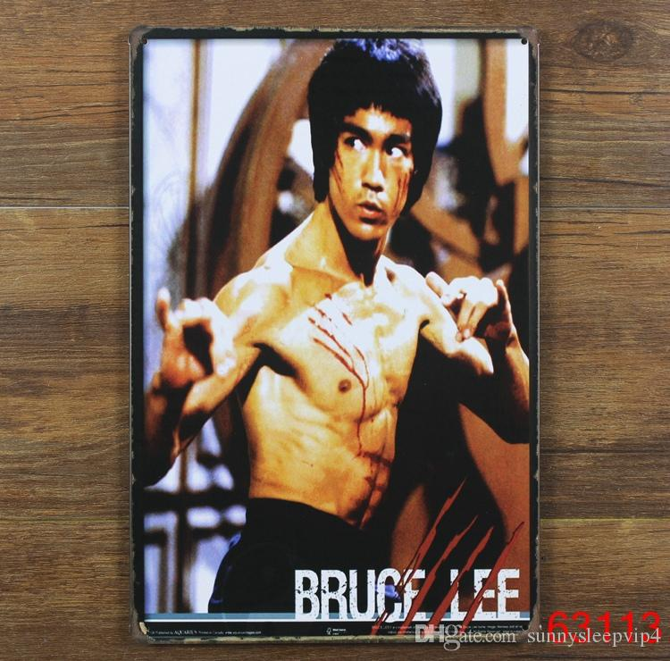 bruce lee vintage metal tin signs home decoration poster tin signs 2030 cm tin