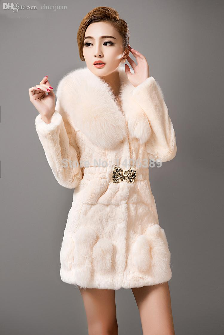 2017 Wholesale Dl6064 2015 New Fashion Real Rex Rabbit Fur Coats ...
