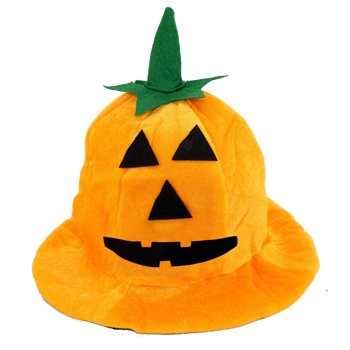Halloween Party Adult Pumpkin Hat Orange Color Halloween