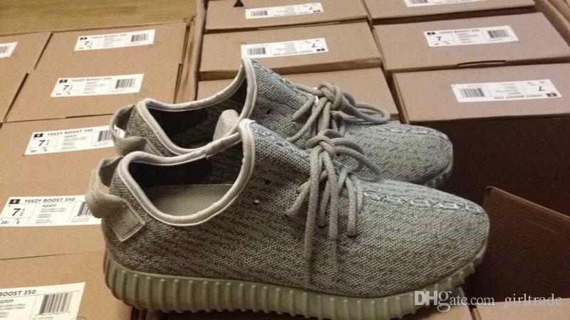 DHL Drop Shipping Cheap Famous Kanye West 350 Boost Low MOONROCK Women Mens Unisex Sports Running Athletic Sneakers Shoes Size 5-12.5