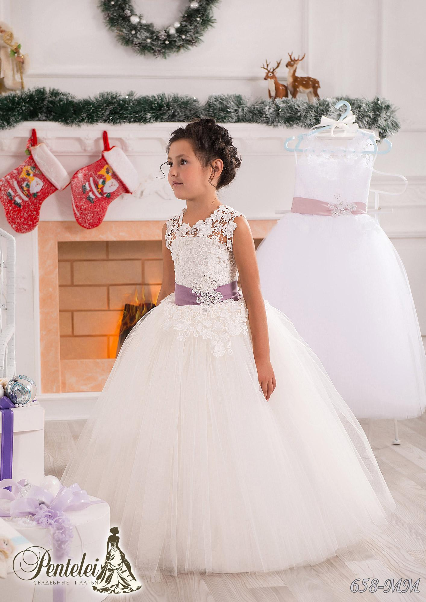 White Lace Sash Jewel Ball Gown Net Baby Girl Birthday Party ...