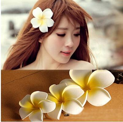 flower hair accessories for women girls bali frangipani wedding hair clips korea jewelry korean bridesmaid accessories hairpin hair clips wholesale cheap