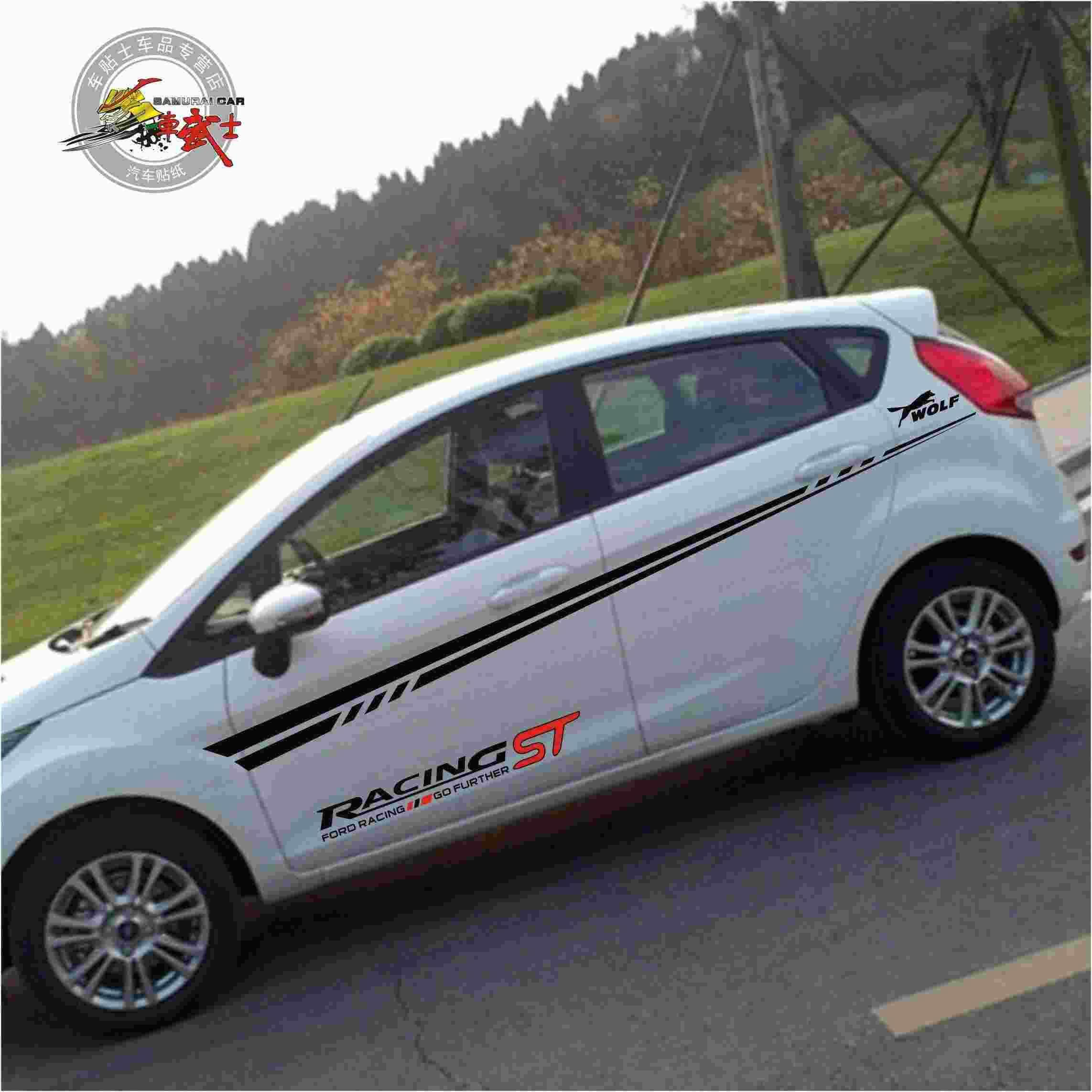 Sticker design for car online - Best St 11 Ford Fiesta Car Stickers Cheap Kk Materials Imported Black Red Full Car Stickers Dodge Car Stickers