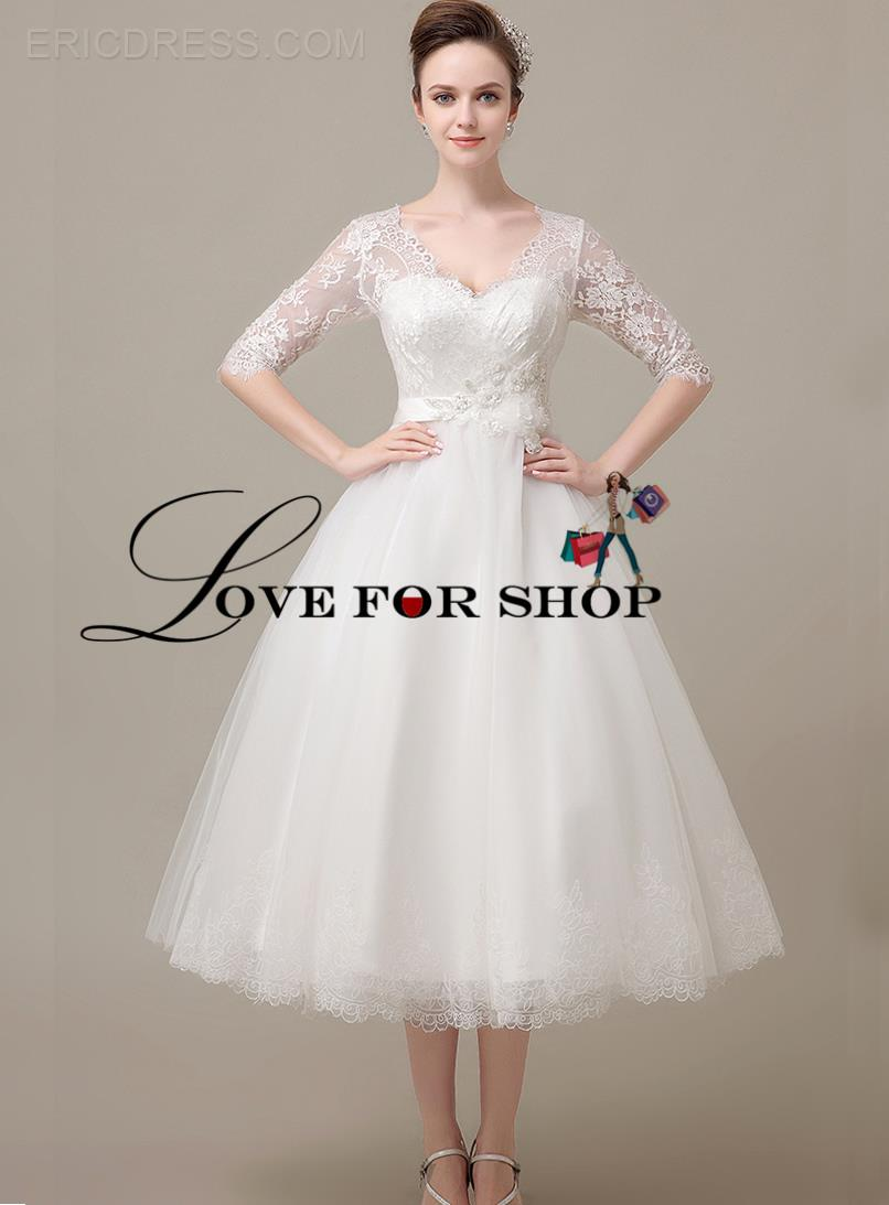 Casual afternoon tea length wedding dresses wedding short dresses casual afternoon tea length wedding dresses 116 ombrellifo Images